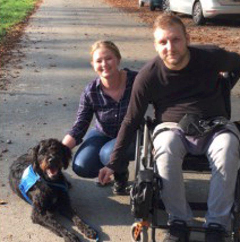 3. Erlebnisbericht - Assistenzhund Denno mit Nicole und Christian
